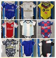 camiseta de fútbol bebé al por mayor-2019 2020 Nueva Jersey América del bebé para BB 6-18 meses ajax JAMES ICARDI COUTINHO ISCO de Fútbol Pogba camisetas de niño