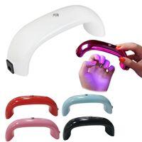 Wholesale dual light source resale online - Mini Dual Light Source Manicure Light UV Phototherapy Machine UV Gel Polishing LED Gel Nail Dryer Manicure Tool