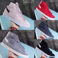 chaussures décontractées mi-longues achat en gros de-2019Y Nouveau Sb Zoom Hommes Blazers Mi Decom Hommes Femmes Chaussures De Course De Mode Haute Coupe En Cuir Designer Baskets Confortable Casual Chaussures 36-44