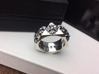 Wholesale black stainless steel engagement rings for sale - Group buy Popular fashion brand CH cross designer rings for lady Design man and Women Party Wedding Lovers gift Luxury Hip hop Jewelry