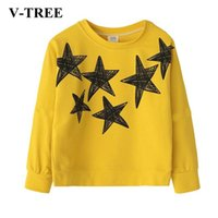 Wholesale teenagers girls clothes resale online - V TREE Children Shirts Long Sleeve Shirts For Girls Years Teenager Tops Cotton Kids Blouse Baby T shirt Clothing