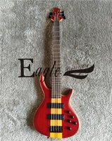 Wholesale custom bass guitar necks resale online - Eagle Butterfly electric guitar Custom Shop stringed red electric bass piece piercer neck electric bass customized