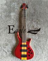 tienda de mariposas al por mayor-Águila. Guitarra eléctrica de la mariposa Custom Shop, bajo eléctrico rojo de 5 cuerdas, bajo eléctrico de 24 piezas piercer cuello personalizado