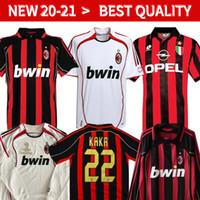 Wholesale kaka milan jersey for sale - Group buy retro soccer jerseys Milan soccer jerseys INZAGHI PIRLO MALDINI KAKA SHEVCHENKO AC retro football shirt
