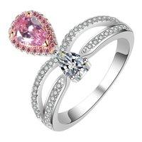 белое золото бриллиантовая коронка оптовых-Роскошное женское кольцо с короной и бриллиантами из 18-каратного белого золота. Кольцо из высококачественного хип-хопа.