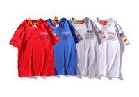 x männer kleidung großhandel-Heron Preston X NASA T-Shirt Männer Teenager Boy Kleidung Sommer Stickerei Designer T-Shirt Kurzarm T-Shirts
