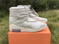 Wholesale mid half pointed boots men for sale - Group buy 2019 Air Fear of God Men Shoes FOG Boots Light Bone Sail Basketball Shoes Man Sports Zoom Sneakers AR4237 US7