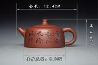 Wholesale chinese teapot purple clay resale online - Rare Chinese handmade word of yixing zisha Purple clay teapot