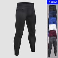 Wholesale jogging sport clothes for men resale online - Popular Zipper Pocket Mens Pants For Fitness Night Men s Jogging Clothing Quick Dry Compression Sport Trouser Running Pant