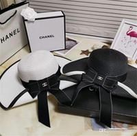 senhoras aba chapéus venda por atacado-Dropshipping venda Quente ampla Brim chapéus de sol para as mulheres Carta Bordado de palha Chapéus meninas Não Perturbe Senhoras chapéus de Palha