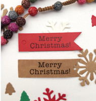 Wholesale kraft bookmarks resale online - Merry Christmas Kraft Tags With m Rope As Christmas Decoration Message Card Bookmark Wrapping Supplies Labels For