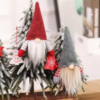 ingrosso vecchi alberi di natale-2019Christmas Faceless Gnome Babbo Albero di Natale Decorazioni d'attaccatura Ornamento Bambola Decorazione di natale bambola pendente regalo albero vecchio