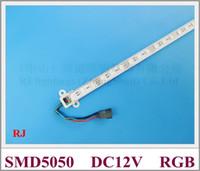 ingrosso led strips 14w-SMD 5050 RGB LED striscia rigida 5050 RGB LED luce bancone bar lampada da tavolo 60 led 100cm DC12V Fedex spedizione gratuita
