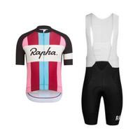 jersey de manga corta rapha al por mayor-2019 Equipo de ciclismo de RAPHA Ropa jersey de bicicleta Ropa de bicicleta de secado rápido para hombre de manga corta profesional Ciclismo Jersey Gel Bib Shorts conjunto 122712Y
