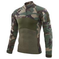 nuevos uniformes del ejército al por mayor-NUEVO EE. UU. Uniforme Camisa de Combate Hombres Asalto Camuflaje Táctico T Shirt Paintball Camisas de Manga Larga