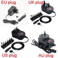 12 вт источник питания 12 в оптовых-12W Универсальный сетевой адаптер переменного тока в блоке питания 3v 4.5v 5v 6v 7.5v 9v 12v 300mA зарядное устройство с 6 шт.