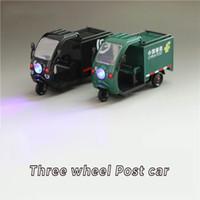ingrosso auto post metallo-1:32 auto a tre ruote in lega di metallo SF Cina post Car Diecast Modellini giocattolo in miniatura modello di scala giocattoli per i bambini