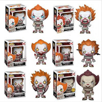 Wholesale educational christmas gifts for children resale online - Funko POP IT Pennywise chase Action Figure Collectible Model Toy with Box for Children Birthday gift christmas