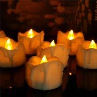 ingrosso candele elettroniche tremolanti-Confezione da 6 Flickering LED Candele con il temporizzatore Batteria elettronica Bougie Mariage Tea Lights Anniversaire 6 Ore 18 Ore Off