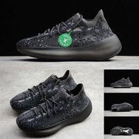 medias negras al por mayor-Con caja Stock X Tag Kanye West V3 Designer Shoes Alien Black Knit Mens Trainers Diseñador de lujo Mujer Running Sports Sneakers Mocasines 36-47