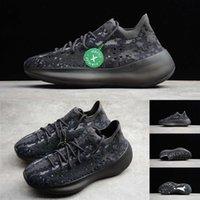 mens loafer schwarz großhandel-Mit Box Lager X Tag Kanye West V3 Designer Schuhe Alien Black Knit Herren Trainer Luxus Designer Woman Running Sport Sneakers Loafers 36-47