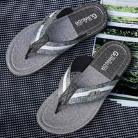 голубые летние сандалии оптовых-Дизайнерские вьетнамки Модные мужские сандалии вьетнамки Мягкие пляжные сандалии для мужчин Небесно-голубой Причинный тапочка Летняя горка для мужчин