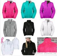 mens slim down ceket toptan satış-Yeni Kış NF Bayan Polar Osito Ceketler Moda Yumuşak Polar Sıcak İnce Palto Açık Bayanlar Marka Erkek Çocuklar bombacı Ceket Kadın Aşağı Ceket