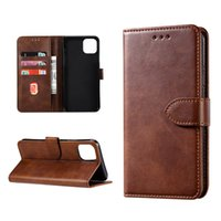 Wholesale leather iphone wallet credit card cases for sale – best For IPhone PRO XS X wallet Case Leather Retro Flip Stand with Credit Card Slots For Samsung Note S10 S9