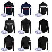 maillot de cyclisme en molleton thermique achat en gros de-Haut de maillot de vélo Rapha Team 2019 Veste Hiver Thermique Veste polaire porter Vélo Vêtements 60921