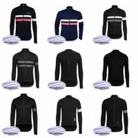 jersey de ciclismo termal de invierno al por mayor-Rapha team 2019 ciclismo jersey top chaqueta invierno polar desgaste bicicleta bicicleta ropa 60921