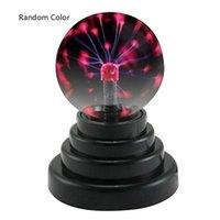 esfera de luz de navidad al por mayor-Bola de plasma USB Esfera electrostática Luz Mágica Lámpara de cristal Bola Escritorio Relámpago Fiesta de Navidad Toque Sensible Luces