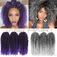 Wholesale synthetic heat resistant hair extensions for sale - Group buy 3pcs Ombre Purple Grey Braiding Hair Malibobo Twist Crochet Synthetic Braids Hair Extension Kanekalon Crochet Hair Heat Resistant