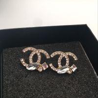 vente de boucles d'oreilles en perle d'or achat en gros de-Vente chaude De Mode Or Femmes Boucles D'oreilles En Cristal Diamant Perle Boucle D'oreille Pour Les Femmes et Les Fille 0595