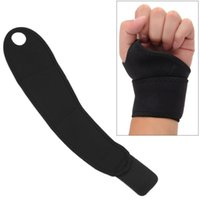 черная ручная лента оптовых-Sport Wristband Wrist Support Strap Cycling Fitness Tennis Hand Band Protector Black