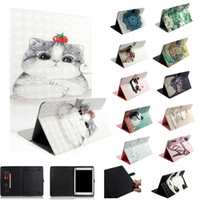 Wholesale acer tablet covers resale online - Universal For inch Tablet Samsung Galaxy Tab iPad Tablet Cartoon Leather Wallet Case D parint Cat Panda Cards Slot Skin Cover