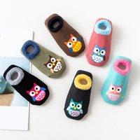 sıcak ayakkabılar hayvan bebeği toptan satış-35 stil Pamuk Bebek Boys Kız Çorap Lastik Kayma dirençli Kat Çorap Karikatür Bebek Çocuk Hayvan Çorap Kış Sonbahar Kalınlaşmak Sıcak Ayakkabı