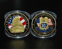 ingrosso moneta da torre-Ordine del campione: Torri gemelle dell'America del World Trade Center 911 9-11 Moneta della Sfida medaglione commemorativo. Distintivi / Souvenir, artigianato in metallo.