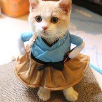 ingrosso vestito da partito di gatto-Carino portatile divertente poliestere Pet Cat Party Abbigliamento Cosplay vestiti Dressing Up Costume Accessori regalo