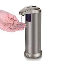 ручные дозаторы для мыла для гостиниц оптовых-датчик автоматического дозатора мыла кухонный инструмент из нержавеющей стали Hands-free Smart Touch с розничной коробкой для ванной комнаты туалета Home Hotel