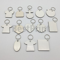 DIY sublimation printing double sided blank MDF sublimation keychains