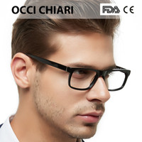Wholesale optical spring hinges resale online - Men s Optical Glasses Fashion Black Anti blue light Classic Frame Demi Man Eyeglasses Frames Spring Hinge OCCI CHIARI MELE