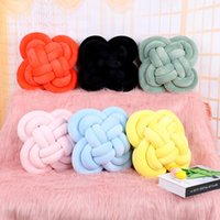 Wholesale pink knot for sale - Group buy Soft Knot Ball Cushions Bed Stuffed Pillow Home Decor Cushion Ball Plush Throw Colors