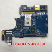 Wholesale intel laptop motherboards for sale - For latitude E6410 Laptop motherboard P N CN YH39C YH39C YH39C LA P con N10M NS S B1 GPU integrada QM57 DDR3 probado full Testd