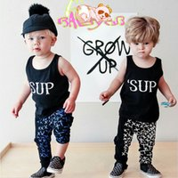 Wholesale pant s babies resale online - 18 The new children s clothes baby suit harem pants T shirt pants baby boys and girls jogging clothing sport kit