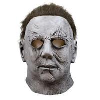 saia rosa vestidos venda por atacado-Filme Horror Michael Myers Máscara de Halloween Cosplay Máscaras de Látex Máscaras de Capacete de Festa Assustador