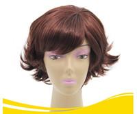 ingrosso capelli obliquo bang-La nuova parrucca femminile anti-deformante obliqua sbatte tutta la produzione all'ingrosso di parrucca capelli corti