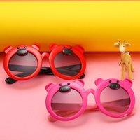 niedliche jungen sonnenbrille großhandel-Kinder Sonnenbrille neue Cartoon Schwein niedlichen Baby Sonnenbrille Jungen und Mädchen Anti-UV-Brille