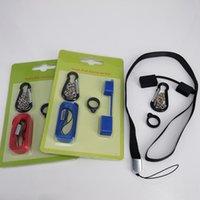ingrosso collana di collana ecig-eCig Vape Pod Carry On Kit con tappo in silicone antipolvere Cordino Collana anello fibbia titolare per Juul SMPO MT Penna piatta