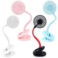 Wholesale clip night light for sale - Group buy Mini Clip Fan Portable Cool Rechargeable Hand Fan With Led Light Desktop Colorful Night Light Fans Party Favor OOA8105