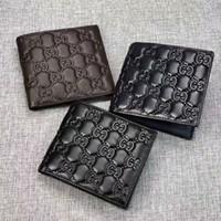 monedero de diseño al por mayor-Cartera delgada de los hombres de cuero genuino mini monedero diseño casual billetera monedero marca de moda corto pequeño regalo de la bolsa pl145754